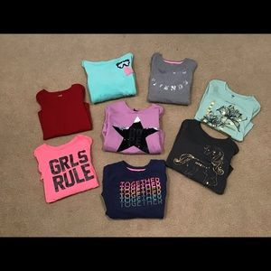 Girls 8pc Long Sleeve Top Bundle